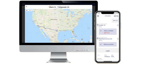 Cargobot Freight Tracking Screen