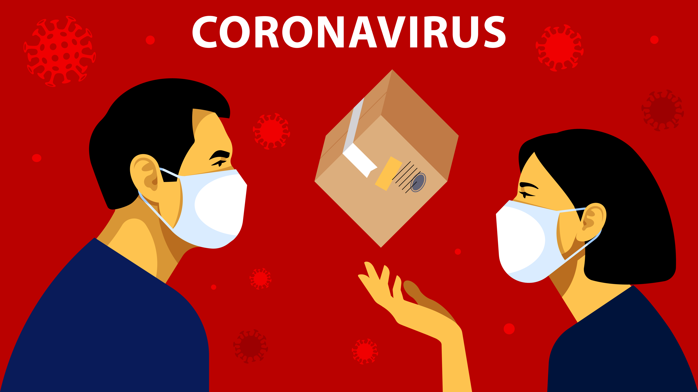 Coronavirus Illlustration with package