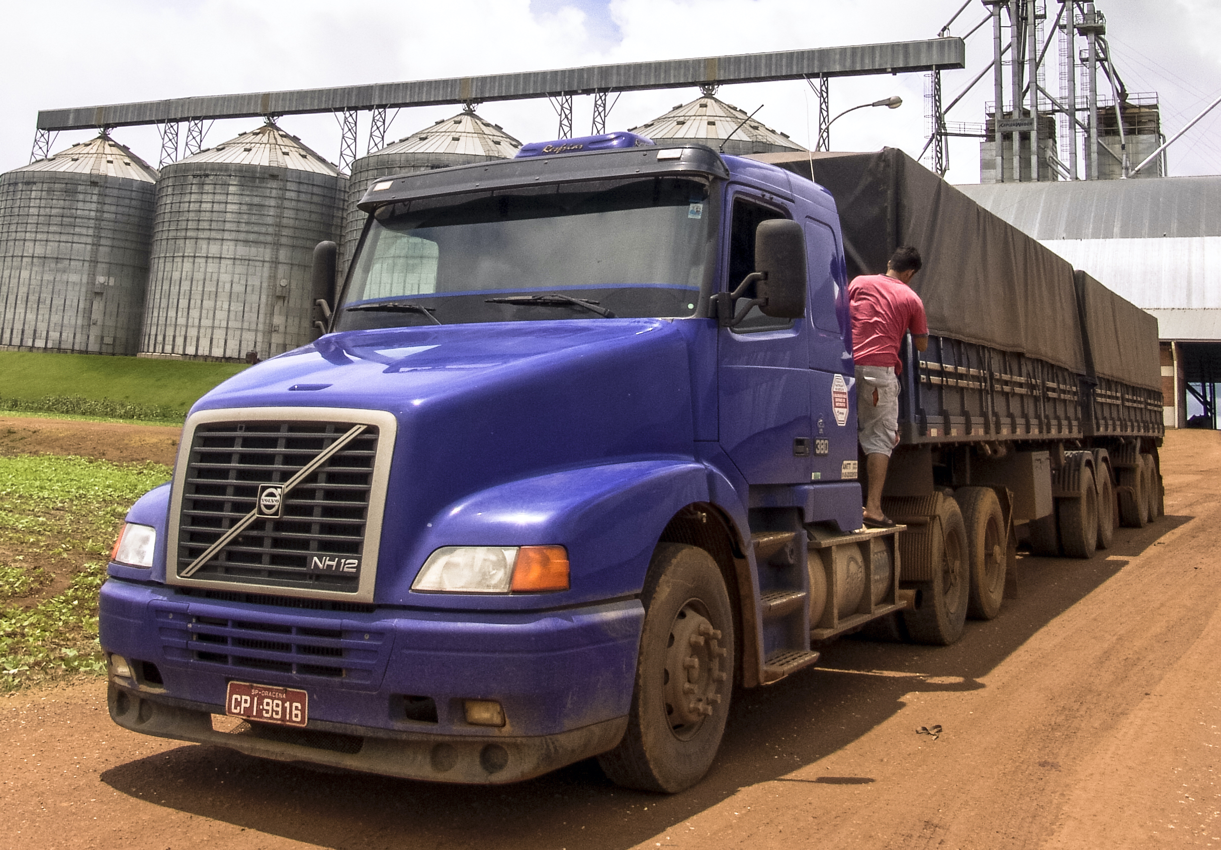 Truck Leaving Agricultural Center