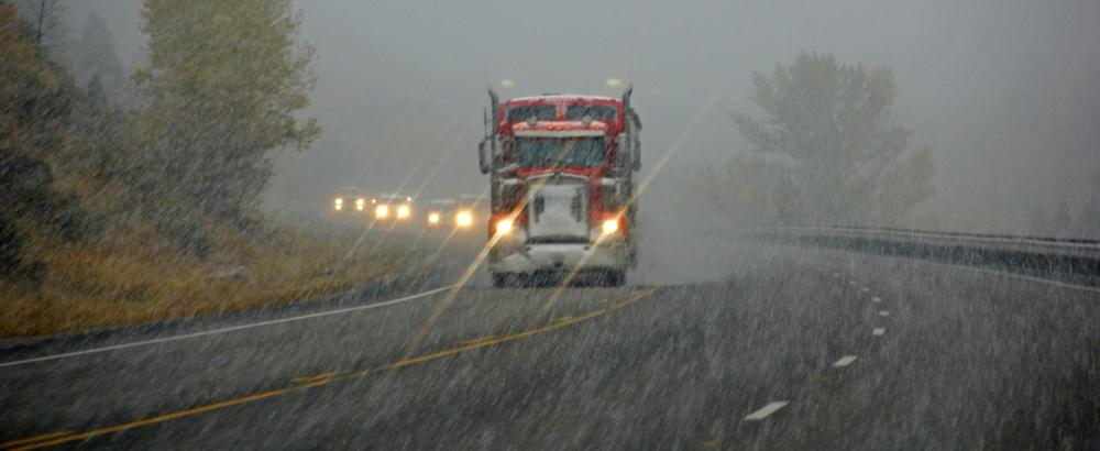 Truck in Storm