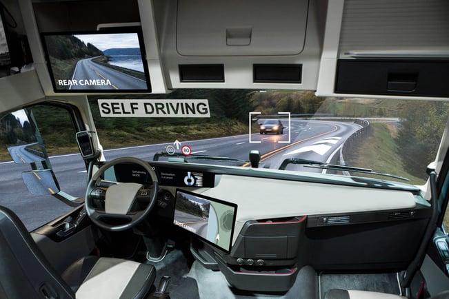 self-driving truck interior