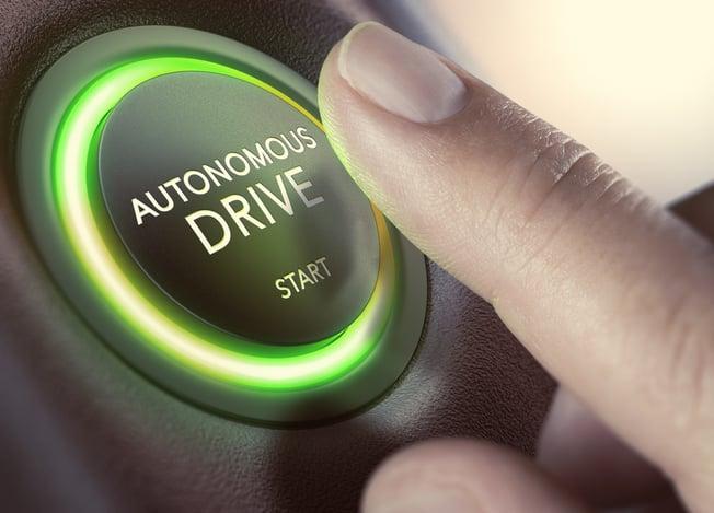 Autonomous car start button