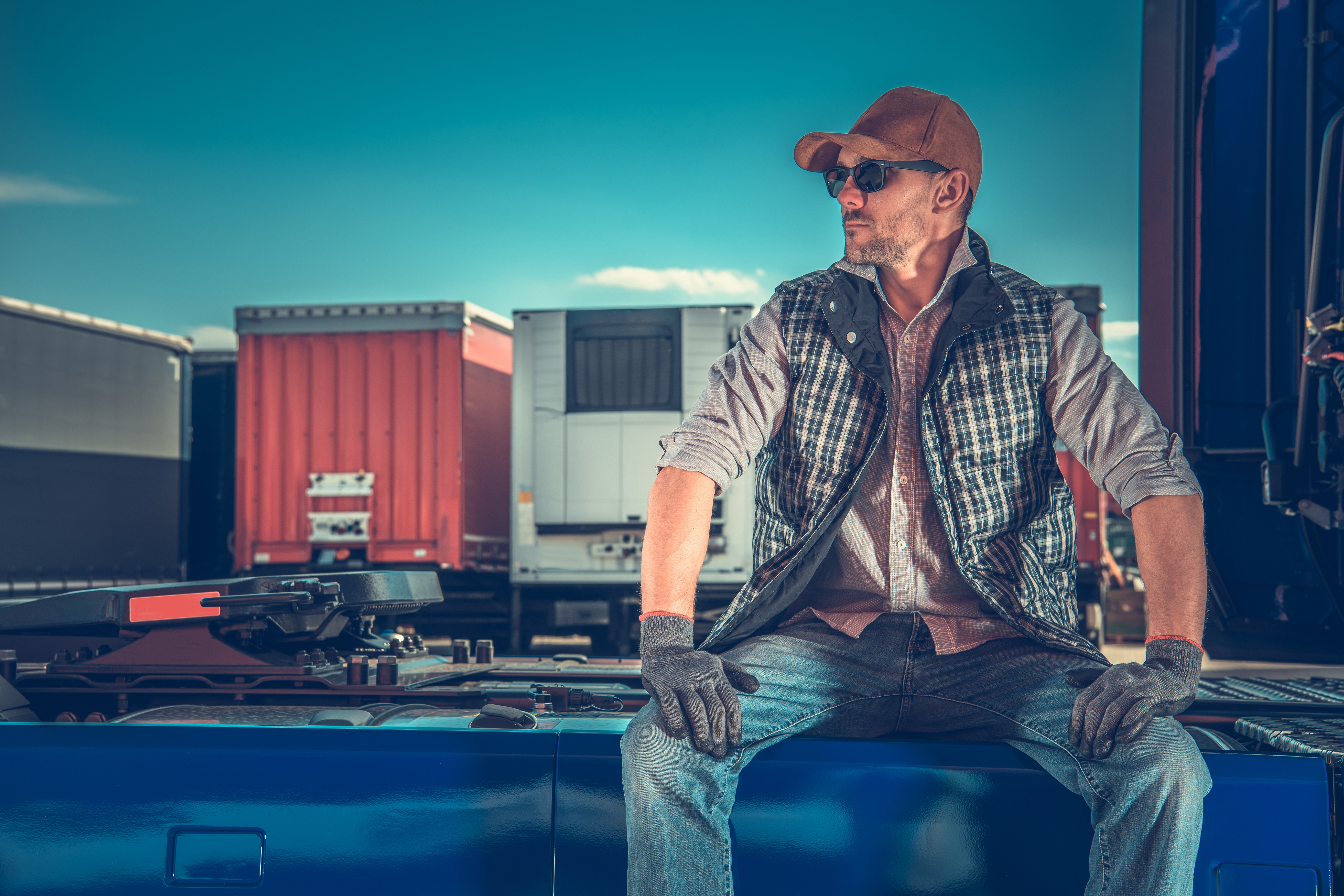Trucker waiting for loads